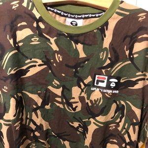 8efb89cd Aape by a Bathing Ape x Fila collab T-Shirt